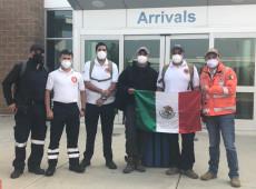 Se vuelven virales bomberos de Gto por apoyo contra incendios en Estados Unidos
