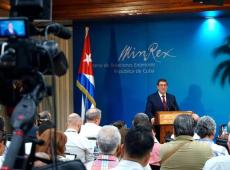Denuncia canciller Bruno Rodríguez mentiras de EE.UU. para justificar agresión a Cuba