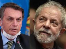 Enquanto a pandemia avança, Lula muda cenário e Bolsonaro despenca nas pesquisas