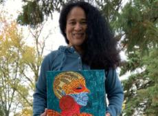 Reconocen a escritora guatemalteca Ilka Oliva Corado en Feria Ganadera Nacional Jutiapa