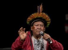 """""""Se eles não gostam dos índios, que nos matem todos juntos"""", diz Davi Kopenawa"""
