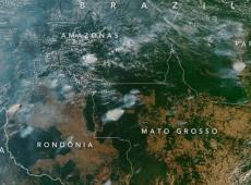La Nasa compartió imágenes satelitales de los incendios forestales en la Amazonía